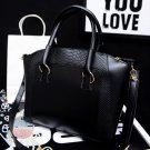 Stylish Women Satchel Crossbody Shoulder Bag Leather Tote Handbag Black Purse