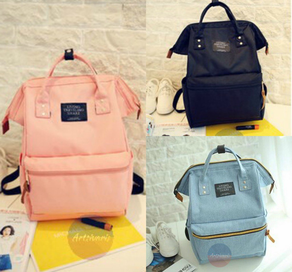 Stylish Women Canvas Backpack School College Bag Casual Handbag Travel Rucksack