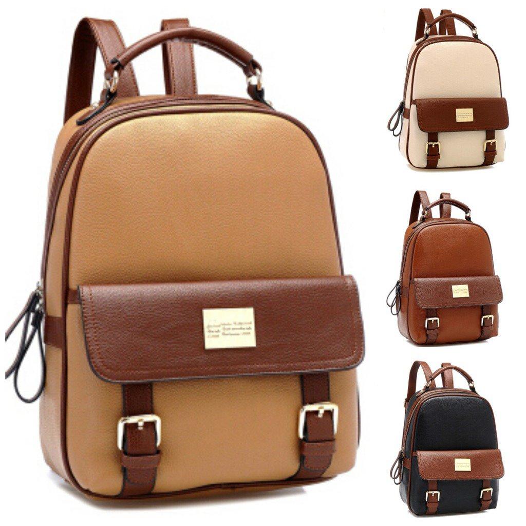 Stylish Women New Leather Backpack Travel Book Rucksack School Waterproof Bag
