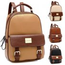 Stylish Women New Leather Backpack Travel Book Rucksack School Waterproof Bag