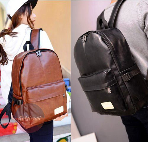 Stylish Vintage Leather Backpack Laptop Satchel Travel School Shoulder Book Bag