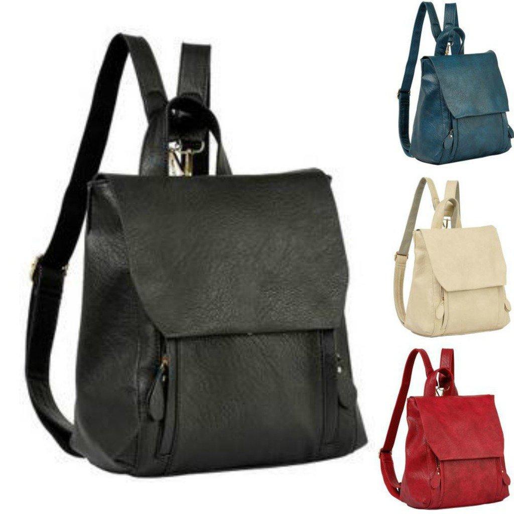 Artsivaris Genuine Leather Women Backpack Vintage School Travel Bag Rucksack