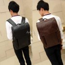 "Stylish Vintage Leather Backpack 14"" Laptop Shoulder Bag Business Travel Satchel"
