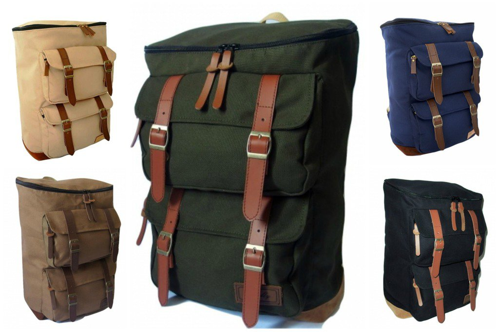 Stylish Men Women Laptop Backpack Macbook Computer Hiking School Army Travel Bag