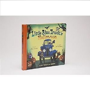 Little Blue Truck's Halloween -Kids Children Board Story Book NEW SHIP WORLDWIDE