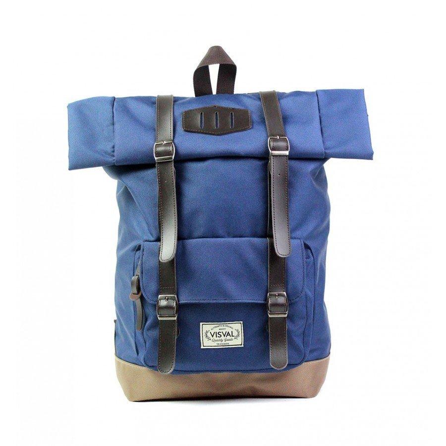 "Stylish Roll Top Backpack Laptop 14"" Macbook Pro Bag Vintage School Rucksack"