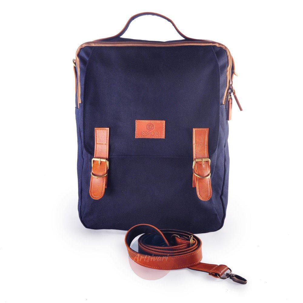 Stylish Men Women Canvas Backpack 13 Laptop Business Briefcase Travel School Bag