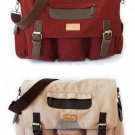Stylish Vintage Canvas Messenger Laptop Satchel Travel Casual School Book Bag