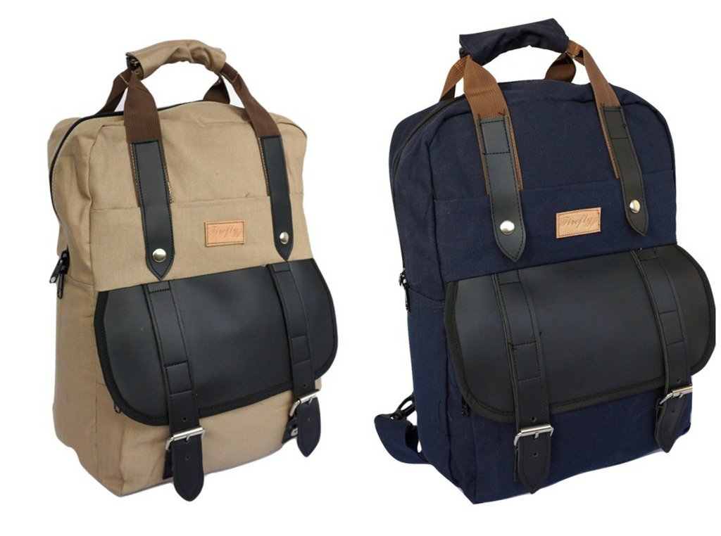"""Stylish Waterproof Canvas 14"""" Laptop Computer Backpack Business Briefcase Bag"""