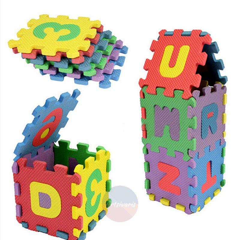 36Pcs Mini Puzzle Alphabet A-Z Letters Foam Mat Kids Baby Educational Toy