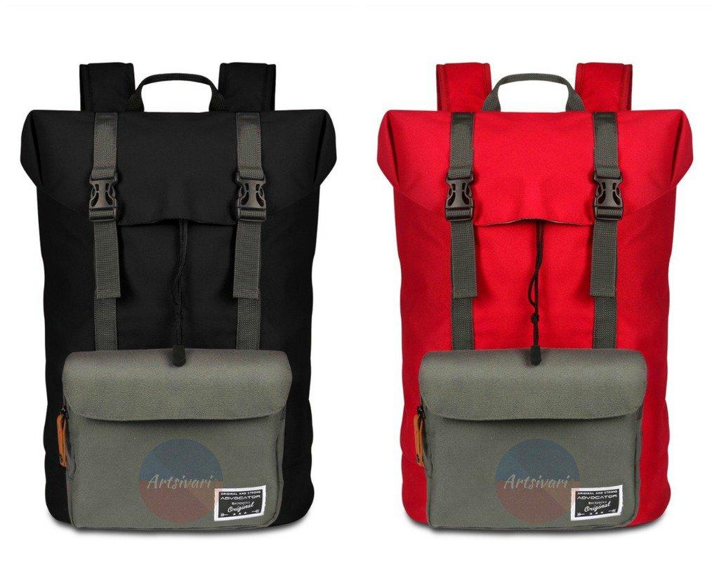 Stylish Waterproof Nylon Backpack Shockproof Laptop Bag Travel School Rucksack