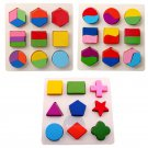 NEW Wooden Geometry Educational Toys Baby Kids Learning Smart Puzzle Gift