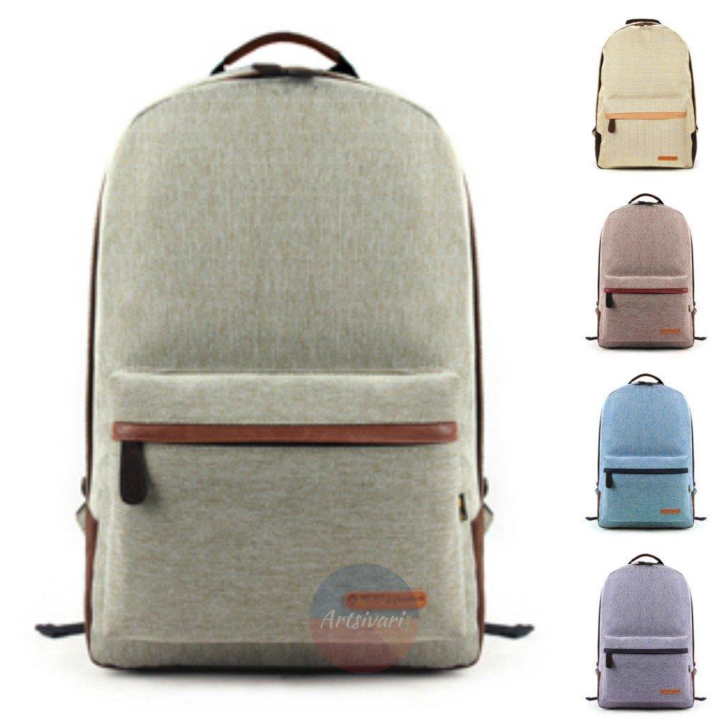 Vintage Preppy Stylish Backpack Laptop Notebook Rucksack School Travel Bag