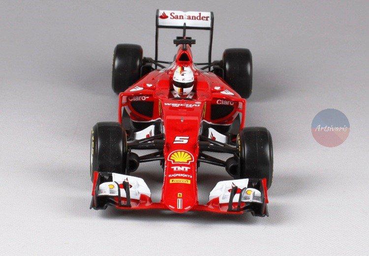Ferrari SF15-T Sebastian Vettel F1 Racing - Scale 1:18 - Bburago Red Car Diecast