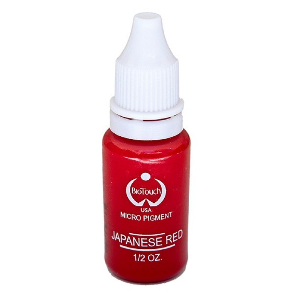 BioTouch Permanent Makeup Micro Pigment Tattoo - 15 ml, 1/2 oz - Japanese Red