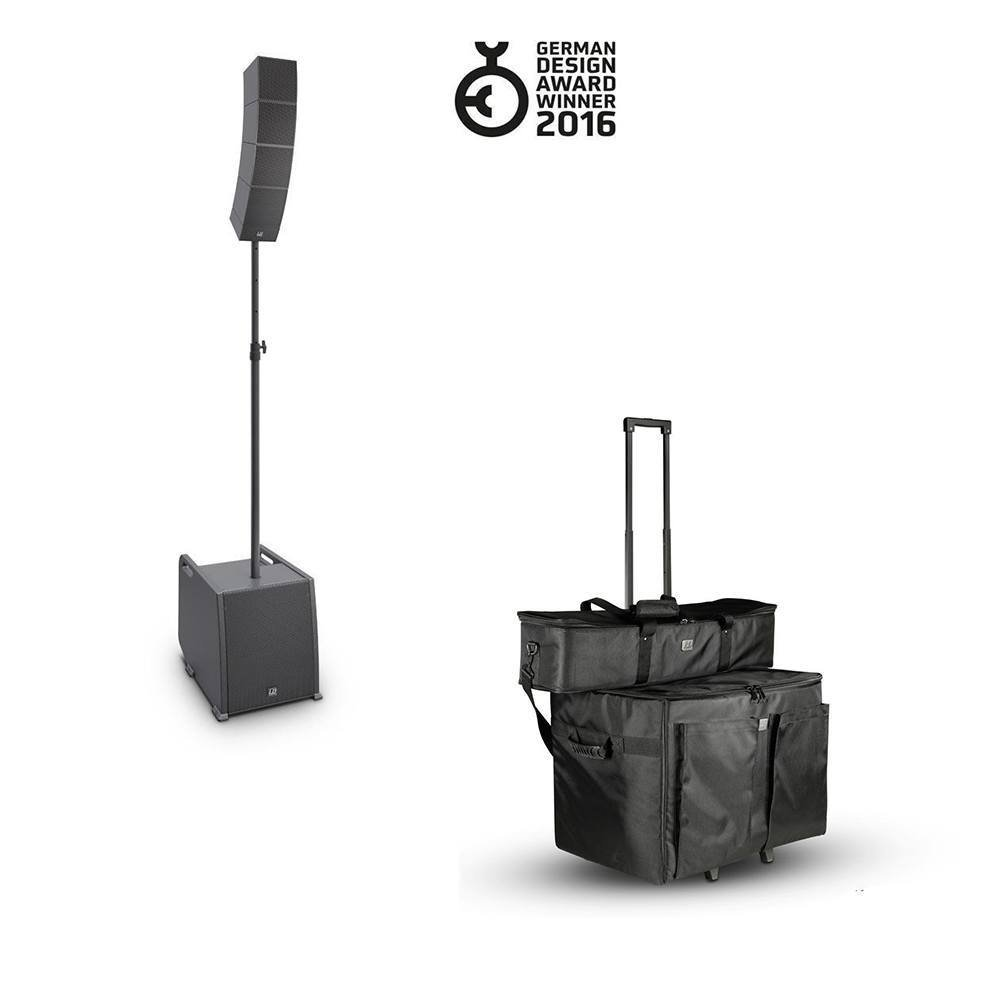 LD SYSTEMS CURV 500 PORTABLE ARRAY SYSTEM POWER EXTENSION SET + BAGS BUNDLE