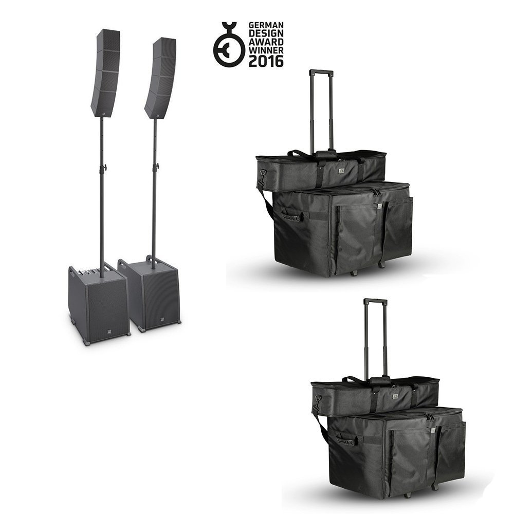 LD SYSTEMS CURV 500 PORTABLE ARRAY SYSTEMS POWER SET + BAGS BUNDLE