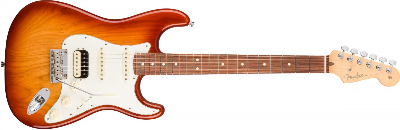 Fender American Professional Stratocaster HSS Shawbucker Sienna Sunburst Finish OPEN BOX,