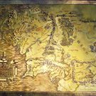 LORD OF THE RINGS METALLIC MAP poster
