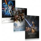 STAR WARS 3 PIECE MOVIE POSTER