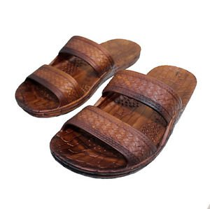 Hawaii Brown and Black Jesus Sandals for Kids