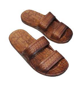 Imperial Hawaii Brown or Black Rubber Jesus Sandals for Indoor Outdoor