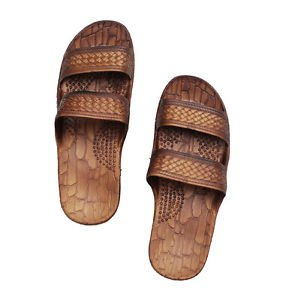 Imperial Hawaii Brown Rubber Jesus Sandals For men and women