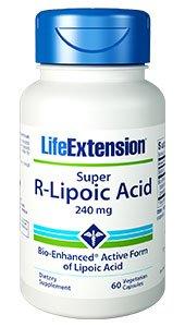 Life Extension Super R-Lipoic Acid 240 mg, 60 vegetarian capsules