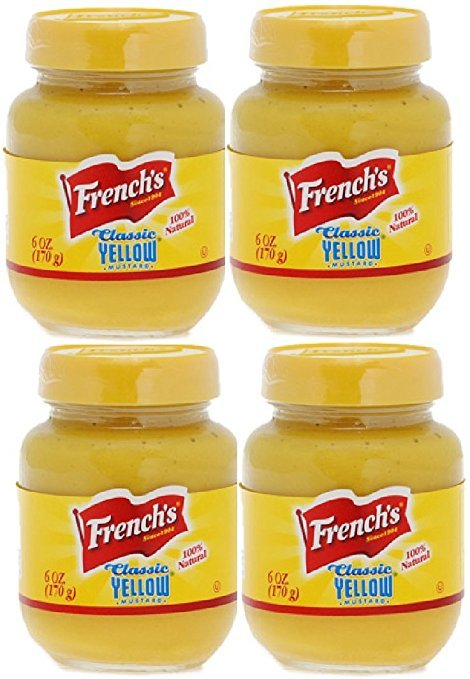 French's Classic Yellow Mustard - 6 oz - (Pack of 4)