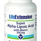 Life Extension Super Alpha Lipoic with Biotin 250 Mg 60 caps