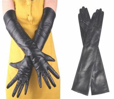 60cm Women's Genuine Leather Long Opera Gloves, Evening / Party Gloves