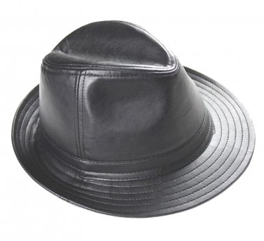 New Men's 100% Real Leather Top Cap/ Fedora Hat / Leather Trilby