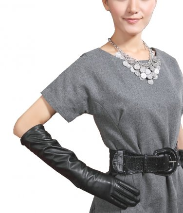 50cm Women's Genuine Leather Long Opera Gloves, Evening / Party Gloves