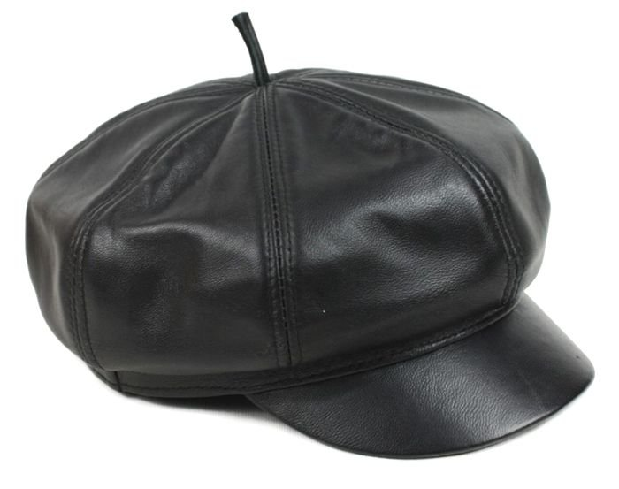 New Design Men's�Unisex�100% Real Leather Newsboy Hat / Beret