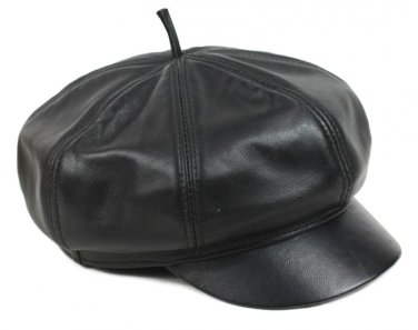 New Design Men's�Unisex�100% Real Leather Newsboy Hat / Beret