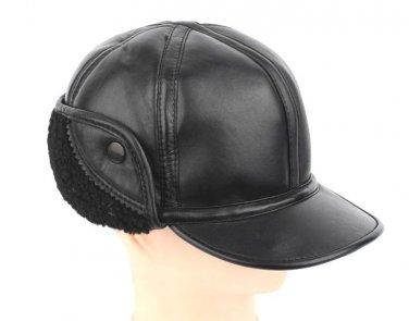 Men's 100% Sheep Leather Winter Warm Cap / Warm Ear Hat