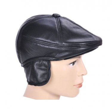 New Design Men's 100% Genuine Leather Cap /Newsboy /Beret /Cabbie Hat/ Golf Hat