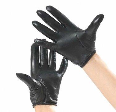 New Police Tactical Gloves 100% Genuine Sheepskin Black/Brown Driving Gloves USA