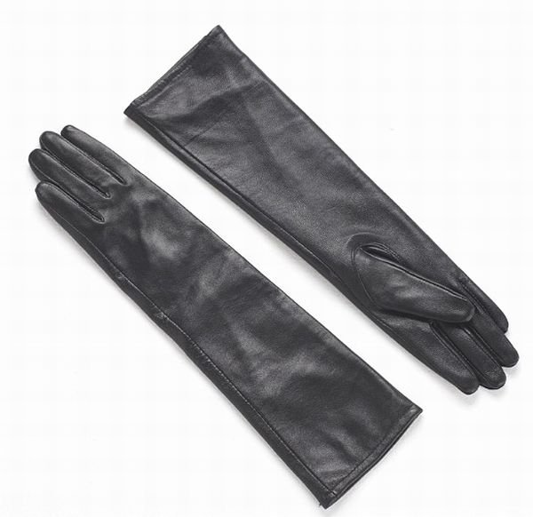 """50cm(19.5"""") Women's 100% Real Genuine Leather Evening Gloves Long Opera Gloves"""