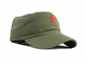 New Design Men Chinese People's Liberation Army-style flat cap,Red 5 star hat
