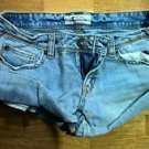 Women's light blue denim aeropostale jean shorts 3/4