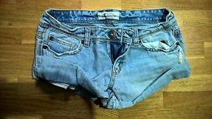 Women's light blue denim aeropostale jean shorts 3/4