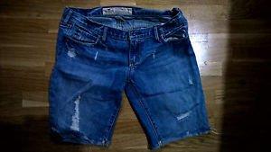 Hollister distressed denim shorts womens juniors size 3