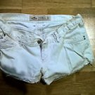White womens distressed short shorts hollister juniors size 3