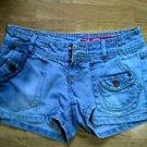 GLO Womens Mini Short Shorts Denimn Junior Size 1