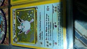 Pokemon wigglytuff holo base set 2 19/130
