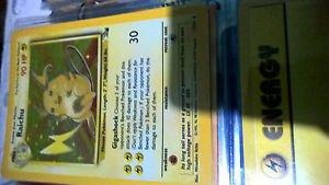 Pokemon Trading Card Nintendo Fossil Shiny Holo Number 14/62 Rare RAICHU
