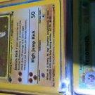 1999 Pokemon Fossil Hitmonlee Holo 1st Edition