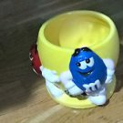 Original M&M's BRAND® Yellow Ceramic Candy Bowl Red & Blue!