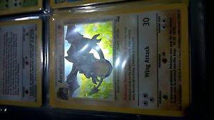 AERODACTYL HOLO RARE 1/62 Pokemon Card Fossil Set